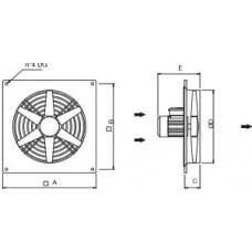 Ventilator axial de perete AWFN 710 4T - TYPE A