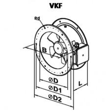 VKF 2E 250 Ventilator Axial