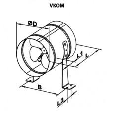 VKOM 200 Ventilator Axial