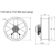 THGT2-500-6/17 Ventilator 2 poli