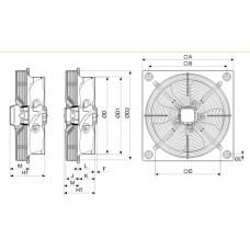 Ventilator axial HXBR/4-250