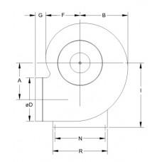 Ventilator Centrifugal Mediu Coroziv MBP 20 T4 1/6